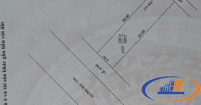 Bán nền 133B10 kdc Phú An    Diên tích 5m x 20m = 100m2
