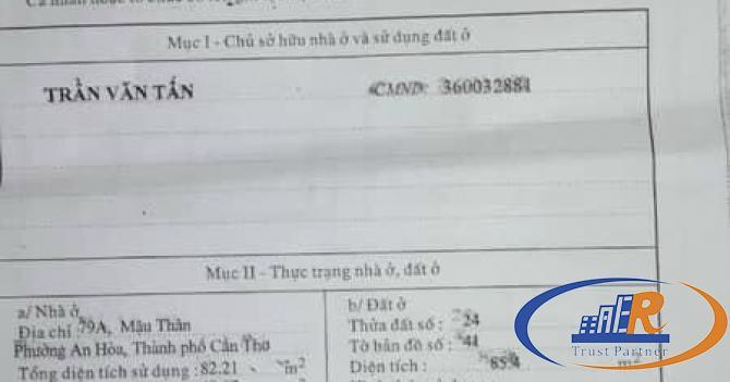 Bán nhà Số 79A góc 2 mặt tiền đường MẬU THÂN – 85,4M2 – GIÁ 15 tỷ - Lh 0939 680 235  Hiếu